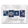 Seasonal Snowflake Greetings Holiday Card