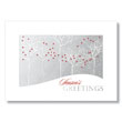 Silver Forest Snowfall Holiday Card