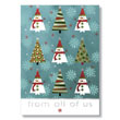 Quirky Snowmen and Trees Holiday Card