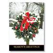 Festive Wreath on Post Holiday Card