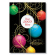 Jewel-Tone Logo Ornament Holiday Card