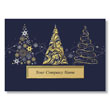 Contemporary Collection of Trees Holiday Card