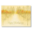 Golden Trees Holiday Card