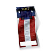 Red, White and Blue Calendar Holiday Card