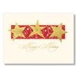Stylized Gold Stars Holiday Card