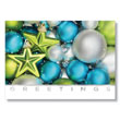 Glass Stars and Ornaments Holiday Card