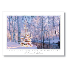 Winter Forest Thank-You Holiday Card