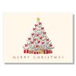 Bold Christmas Tree Greetings Holiday Card