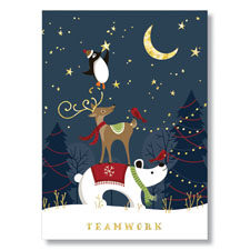 Teamwork Wishes Holiday Card