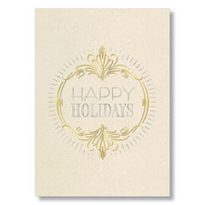 Expressive Happy Holidays Holiday Card