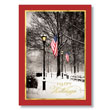 Patriotic Winter Park Holiday Card
