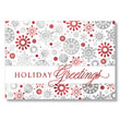 Colorful Foil Snowfall Holiday Card
