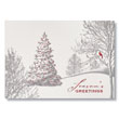 Tranquil Foil Forest Holiday Card