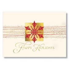 Snowflake Happy Holidays  Holiday Card