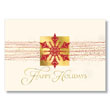 Snowflake Happy Holidays  Holiday Card