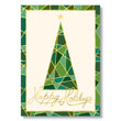 Mosaic Christmas Tree Holiday Holiday Card