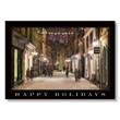 Vintage City Snow Scene Holiday Card