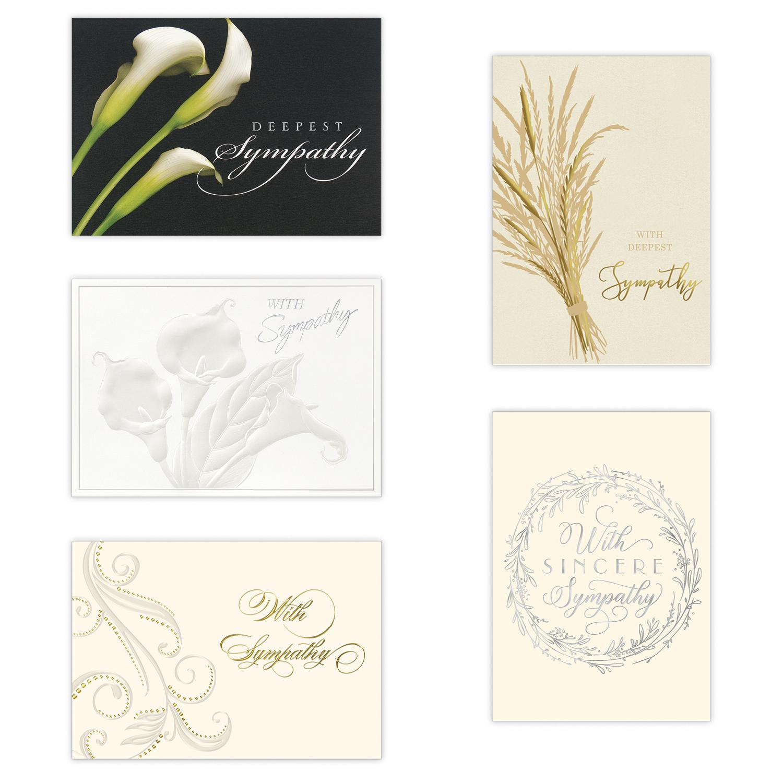 elegant employee sympathy card assortment  business