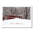 Peaceful Winter Bridge Holiday Card