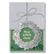 Elegant Die-Cut Wreath Holiday Card