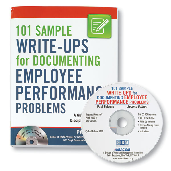 Sample Write-Ups for Documenting Employee Performance Problems