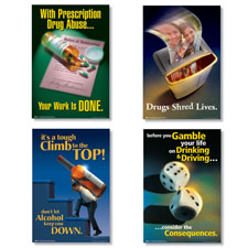 Substance Abuse Poster Set