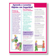 Lifting Safely at Work Poster - Spanish