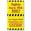Bilingual workplace poster enhances safety awareness