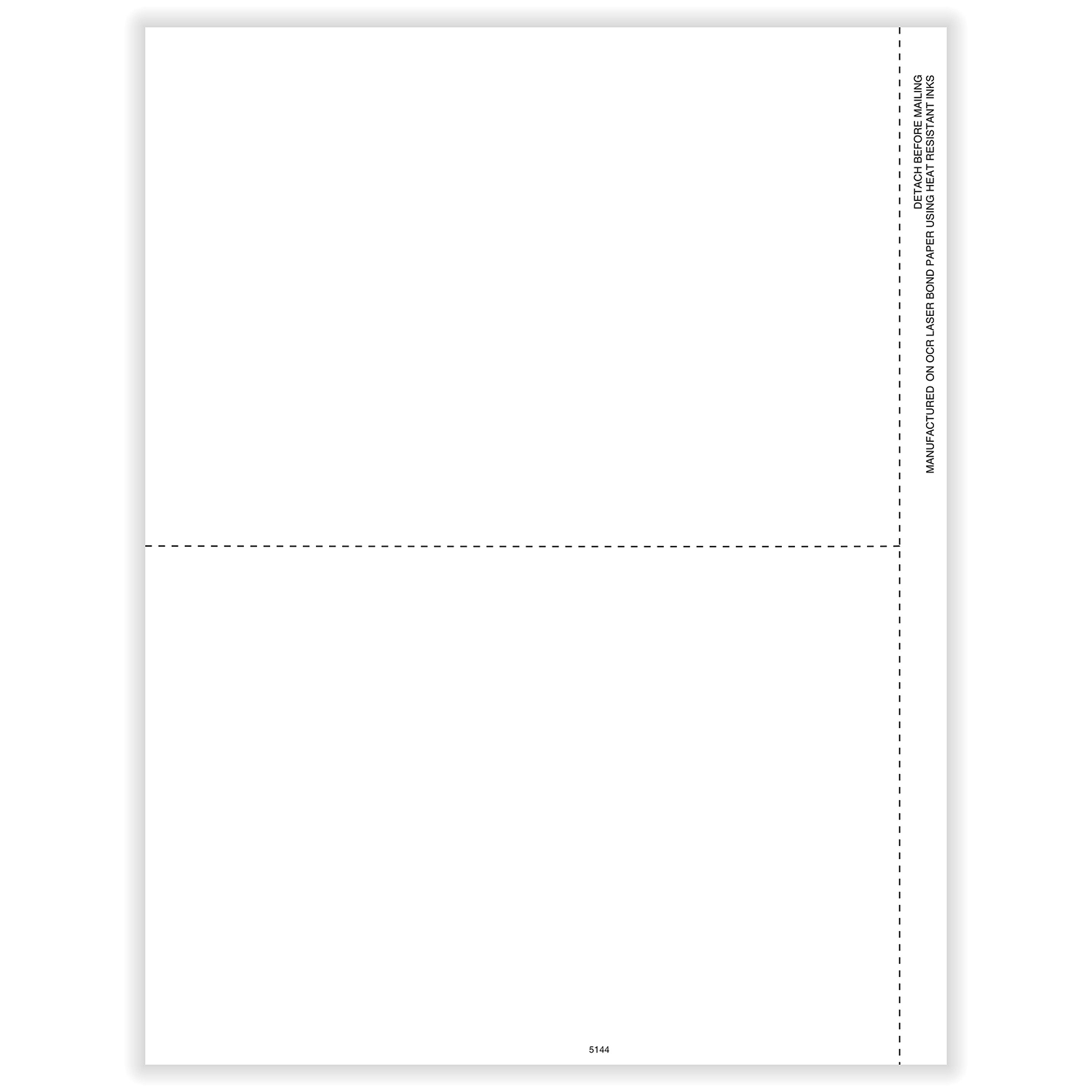 1099-R Laser Blank 2-Up with 1 Vertical & 1 Center Perforation (100 Pack)
