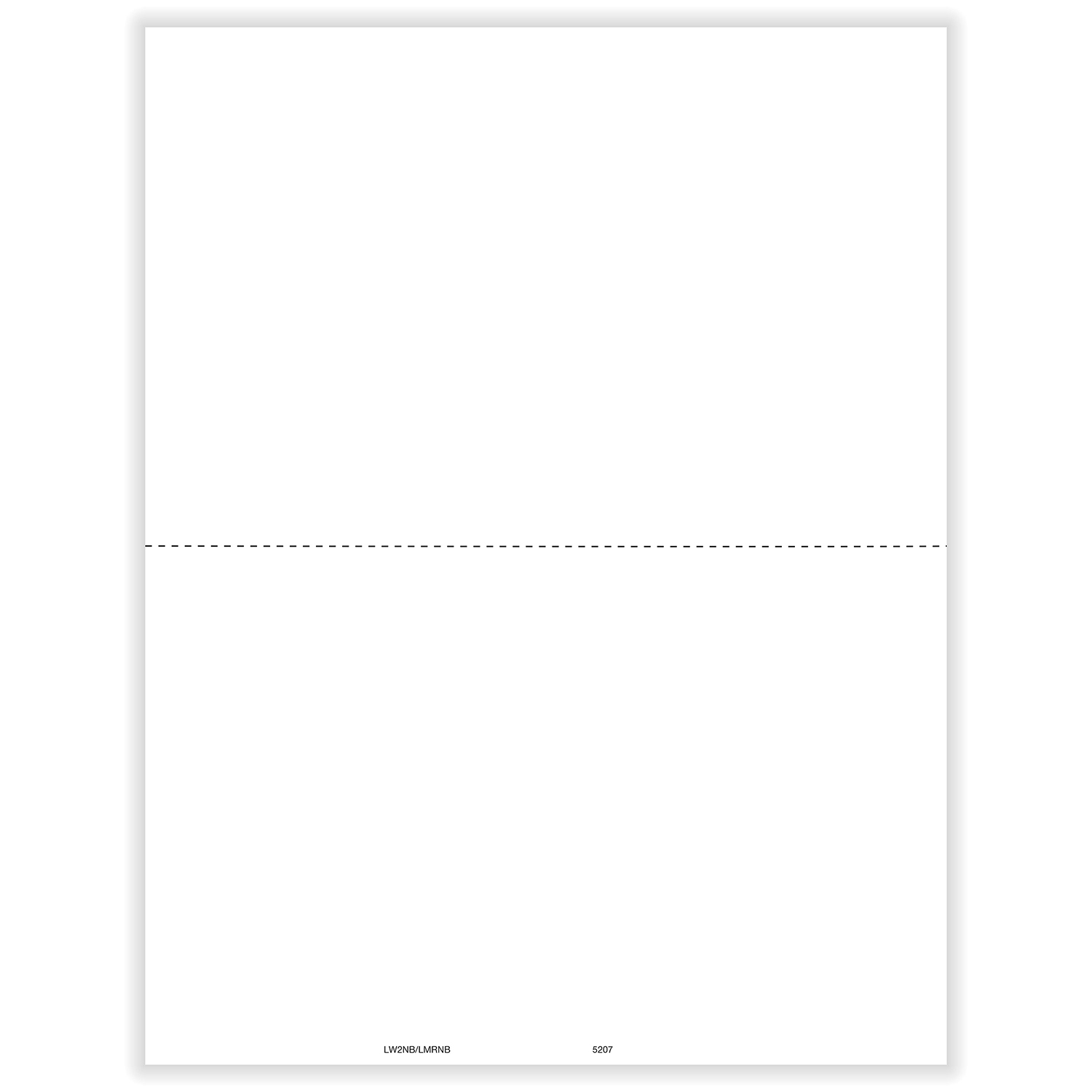 W-2 Laser Blank 2-Up with 1 Perforation (100 Pack)