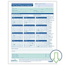 Downloadable Fill-and-Save Time Off Request and Approval Form