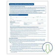 Downloadable Veteran Status Data Form