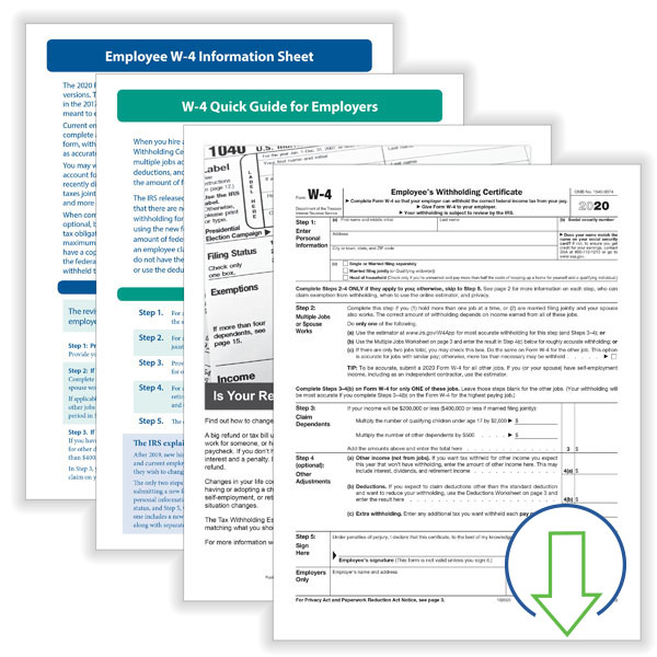 Downloadable W-4 Employee Kit