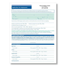 Imprinted 50-State Compliant Job Application