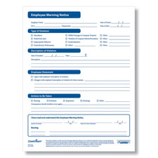 Picture of Employee Warning Form