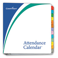 Attendance Calendar Binder and Tabs