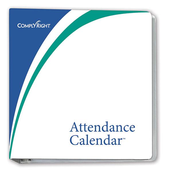 """Attendance Calendar Binder 3"""""""