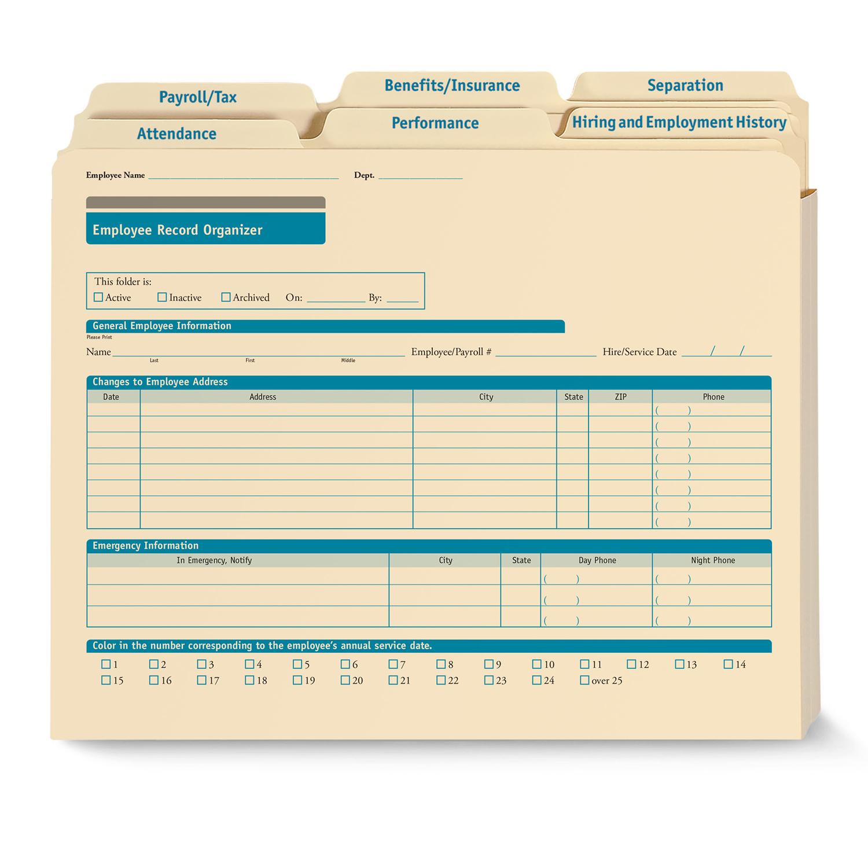 employee record organizer