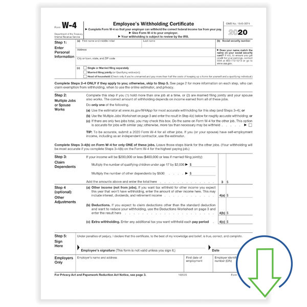 Downloadable W-4 Form