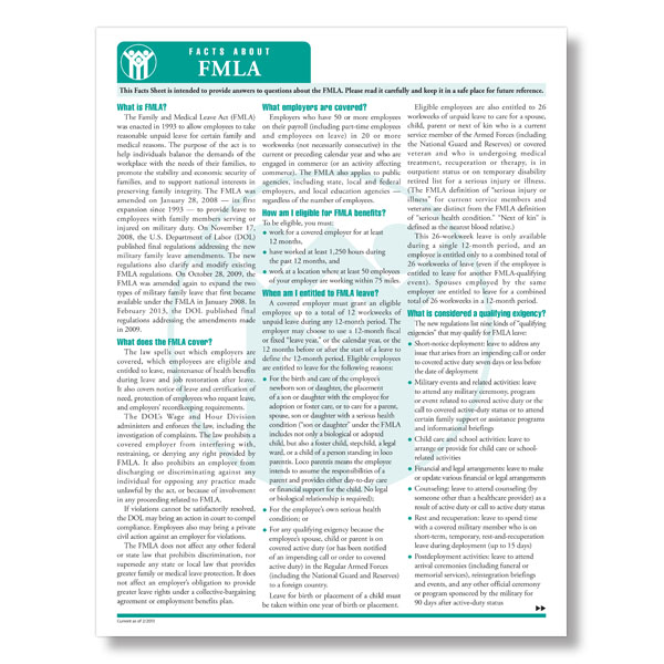 FMLA Fact Sheet 1
