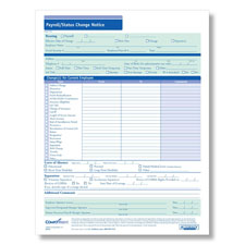 Payroll Status Change Form