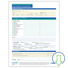 Downloadable Payroll Status Change Notice