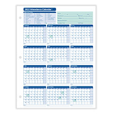 2022 Monthly Employee Attendance Calendar Sheet