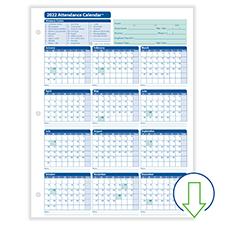 Downloadable Fill-and-Save Attendance Calendar