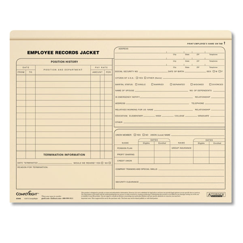 Employee Records Jackets