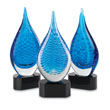 Blue Art Glass Recognition Award Group