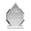 Clear Diamante Acrylic Award Employee Trophy