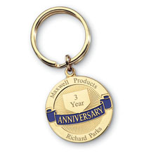 Workplace Anniversary Key Chain