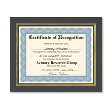 Prestigious Award Frame Imprinted Black