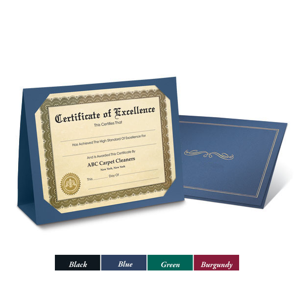 Picture of Blank Award Certificate Folders